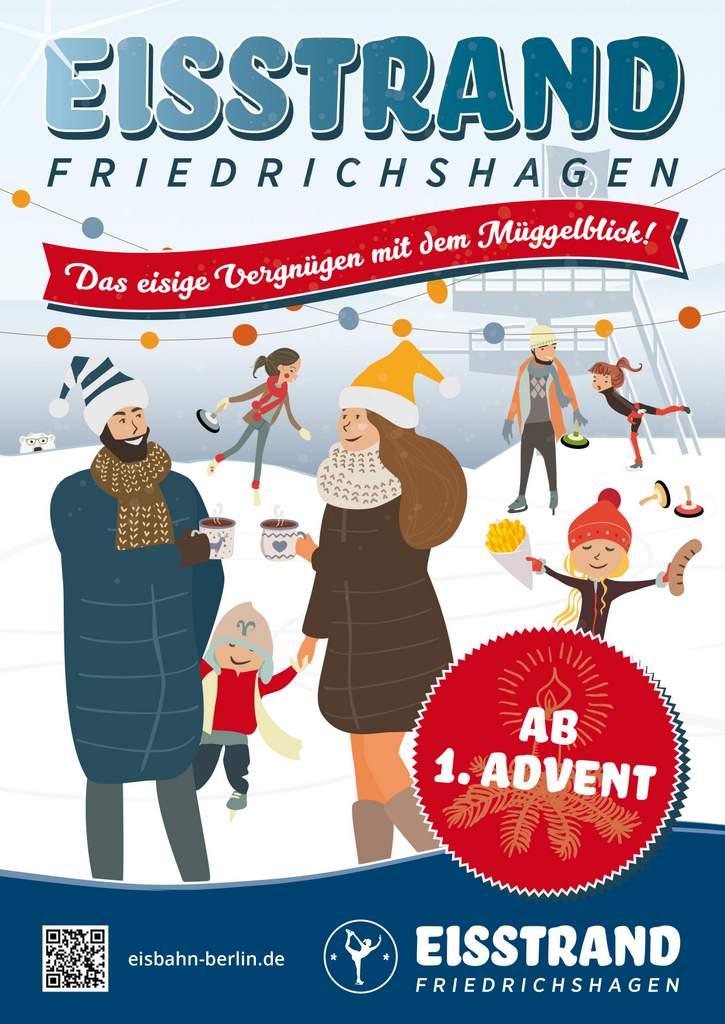 Poster Eisstrand 2020 Start 1. Advent